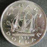 カナダ記念銀貨 西暦1949年