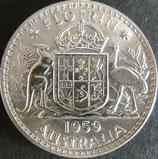 オーストラリア銀貨 西暦1959年Φ29