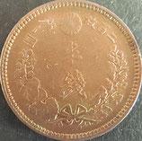 半銭銅貨 明治21年