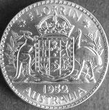 オーストラリア銀貨 西暦1952年