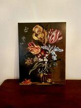 pittura a olio tecnica fiamminga  Fiori