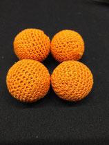 Set de 4 Balles Crochetées Orange  Diam. 2.5cm