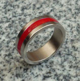 Magnetic Engraved PK Ring Red