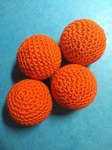 Balles Crochetées Orange 3 cm