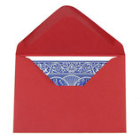 Enveloppes Rouge a cartes