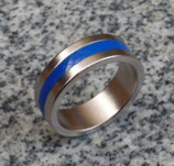 Magnetic Engraved PK Ring Bleu