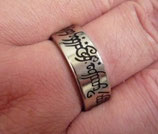 Magnetic Engraved PK Ring Argent