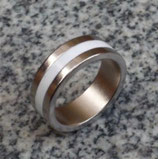 Magnetic Engraved PK Ring Blanc