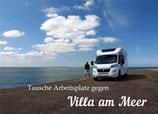 Postkarte | Tausche Arbeitsplatz gegen Villa am Meer | ♥