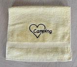 Gästehandtuch mit Stick | ♥ Camping | Marineblau oder Vanille