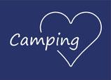Postkarte | Camping ♥ | marineblau