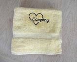 Handtuch mit Stick | ♥ Camping | Marineblau oder Vanille