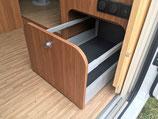 NEU: Toni's Bausatz für Schubkasteneinbau in SEITLICHE SITZBANK für Carado / Sunlight / Etrusco