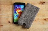 "Handytasche ""Stern"", Galaxy S5 & S6, SONY Expiria Z3 und HTC ONE E 8 & mini passend, grau"