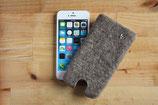 """Handytasche """"Stern"""", iPhone 5 bzw. iPhone 4 passend, grau"""