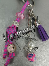 Schlüsselanhänger aus Paracord rosa/pink