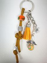 Schlüsselanhänger aus Paracord ocker/rot/grün