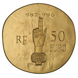 50 euros Hugues Capet 2012 en or 1/4 oz