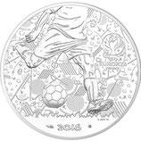 10 euros argent circulante Coupe de l'UEFA Football Euro 2016