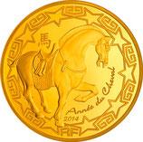 50 euros Année du cheval 2014 en or 1/4 oz