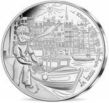 10 euros argent Petit prince revient de la pêche