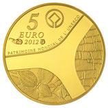 5 euros Egypte 2012 en or 0,5 gr.