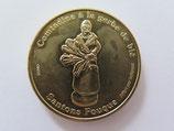 Médaille MDP Marseille. Editions Infopuce. Santons Fouque. Comtadine à la gerbe de blé 2013
