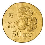 50 euros Henri IV 2013 en or 1/4 oz