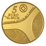 5 euros Versailles 2011 en or 0,5 gr.