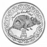 1/4 euro argent Année du rat 2008