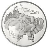 10 euros argent Le chat botté 2012