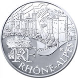 10 euros argent Rhône-Alpes 2011