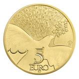 5 euros Europa 0,5 g. or 70 ans de Paix en Europe 2015