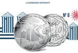 10 euros argent La Normandie inspirante 2017