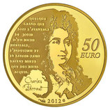 50 euros Le chat botté Charles Perrault 2012 en or 1/4 oz