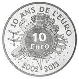 10 euros argent Semeuse 10 ans de l'euro 2012
