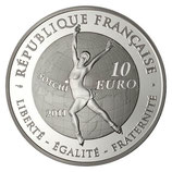 10 euros argent Jeux d'hiver patinage artistique 2011