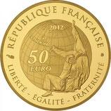 50 euros Jeux d'été Judo 2012 en or 1/4 oz