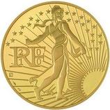 500 euros Semeuse en marche 2010 en or