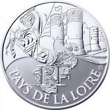 10 euros argent Pays de la Loire 2011