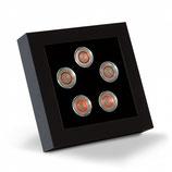 Cadre de présentation LED pour 5 pièces de collection allemandes de 5 euros en capsules