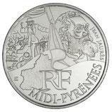 10 euros argent Midi-Pyrénées 2012