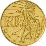 100 euros Semeuse en marche 2008 en or