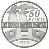 50 euros argent 5 onces Le France 2012