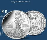 10 euros argent L'Aquitaine nouvelle 2017