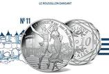 10 euros argent Le Roussillon dansant 2017