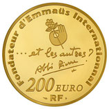 200 euros Abbé Pierre 2012 en or 1 oz