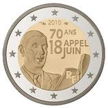 2 euros Appel du 18 juin de Gaulle BE 2010