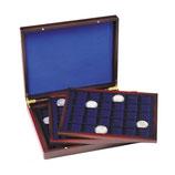 Coffret  pour les pièces avec ou sans capsules jusqu'a 39 mm