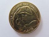 Médaille MDP  Kintzheim. Montagne des singes. Bébé singe dans les bras de sa mère n°2 2013